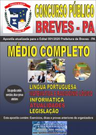 Apostila Impressa Concurso Público Prefeitura de Breves - PA 2020 Nível Médio Completo