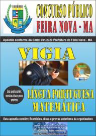 Apostila Impressa Concurso Público Prefeitura de Feira Nova - MA 2020 Fundamental Incompleto Área Vigia