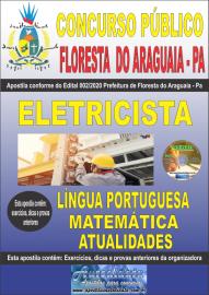 Apostila Impressa Concurso Público Prefeitura de Floresta do Araguaia - Pa 2020 Área Eletricista
