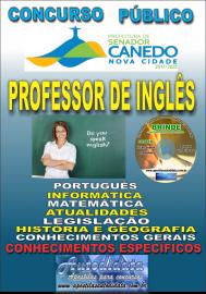Apostila Impressa SENADOR CANEDO/GO 2020 - Professor De Inglês