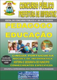 Apostila Impressa Concurso - Prefeitura Municipal de Imperatriz - MA 2019 - Pedagogo Educação