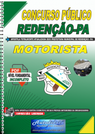 Apostila Digital Concurso Público Prefeitura de Redenção - PA - 2020 Motorista