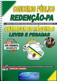 Apostila Digital Concurso Público Prefeitura de Redenção - PA - 2020 Operador de Máquinas Pesadas