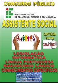 Apostila Impressa ConcursoINSTITUTO FEDERAL DE EDUCAÇÃO, CIÊNCIA E TECNOLOGIA DO PARÁ - IFPA - PA - 2019 - Assistente social