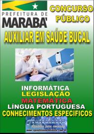 Apostila Digital Concurso MARABÁ - PA 2018 - Auxiliar Em Saúde Bucal