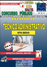 Apostila Digital Concurso IBAMA  - 2019 - Técnico Administrativo