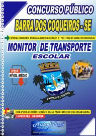 Apostila Digital Concurso Público Prefeitura de Barra dos Coqueiros - SE 2020 Monitor de Transporte Escolar