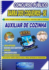 Apostila Impressa Concurso Público Barra dos Coqueiros - SE 2020 Auxiliar de Cozinha