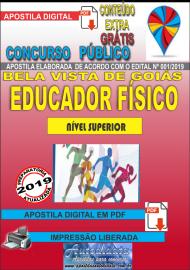 Apostila Digital Concurso Bela Vista de Goiás - GO  - 2019 - Educador Físico