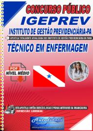 Apostila Digital Concurso IGEPREV-Instituto de Gestão Previdenciária-PA 2021 Técnico em Enfermagem