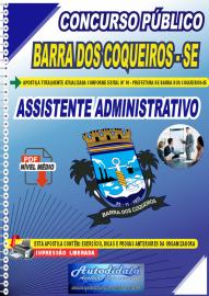 Apostila Digital Concurso Público Prefeitura de Barra dos Coqueiros - SE 2020 Assistente Administrativo