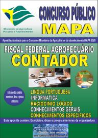 Apostila Impressa Concurso Público do MAPA - 2020 Fiscal Federal Agropecuário - Contador
