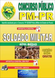 Apostila Digital Concurso Público Polícia Militar do Paraná 2020 Soldado Militar