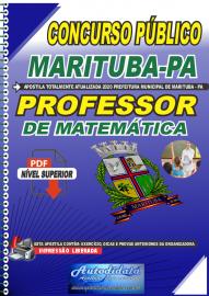 Apostila Digital Concurso Público Prefeitura de Marituba - PA 2020 Professor de Matemática