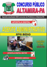 Apostila Digital Concurso Prefeitura de Altamira - PA 2020 - Agente Administrativo