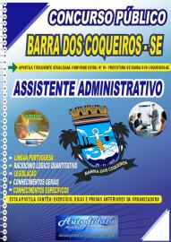 Apostila Impressa Concurso Público Prefeitura de Barra dos Coqueiros - SE 2020 Assistente Administrativo