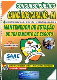 Apostila Digital Concurso Público SAAE/Canaã dos Carajás - PA 2020 Mantenedor de Estação de Tratamento de Esgoto