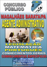 Apostila Impressa Concurso de MAGALHÃES BARATA/PA 2019 – Agente Administrativo