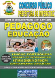 Apostila Impressa Concurso - Prefeitura Municipal de Imperatriz - MA 2019 - Pedagogo