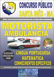 Apostila Impressa Concurso Prefeitura Municipal de Santa Inês - Maranhão 2019 Motorista de Ambulância