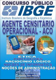Apostila Impressa concurso IBGE 2019 – AGENTE CENSITÁRIO OPERACIONAL (ACO)