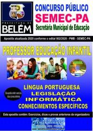 Apostila Impressa Concurso da SEMEC - PA 2020 - Educacão Infantil