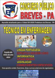 Apostila Impressa Concurso Público Prefeitura de Breves - PA 2020 Técnico em Enfermagem