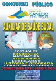 Apostila Impressa SENADOR CANEDO/GO 2020 - Auxiliar De Saúde Bucal
