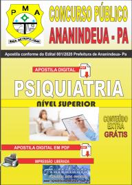 Apostila Digital Concurso Público Prefeitura de Ananindeua - PA 2020 Área Paiquiatria