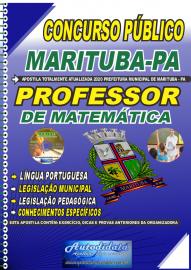 Apostila Impressa Concurso Público Prefeitura de  Marituba - PA 2020 Professor de Matemática