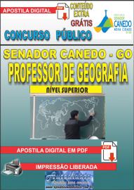 Apostila Digital SENADOR CANEDO/GO 2020 - Professor De Geografia