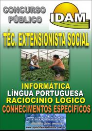 Apostila Digital Concurso IDAM - AM 2018 - Técnico Extensionista Social