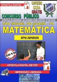 Apostila Digital SÃO MIGUEL DO GUAMÁ/PA 2019 - Professor De Matemática