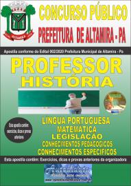 Apostila Impressa Concurso Prefeitura Altamira 2020 Área Professor de História