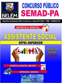 Apostila digital Concurso da SEMAD  - PA 2020 - Assistente Social