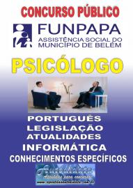 Apostila impressa concurso da FUNPAPA-PA 2018 - Psicólogo