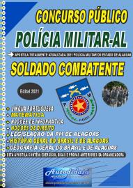 Apostila impressa concurso da Polícia Militar do Estado do Alagoas PM - AL 2021 - Soldado Combatente