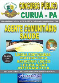 Apostila Impressa Concurso Público Prefeitura Municipal de Curuá - Pará 2019 Agente Comunitário em Saúde
