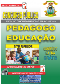 Apostila Digital Concurso - Prefeitura Municipal de Imperatriz - MA 2019 - Pedagogo Educação