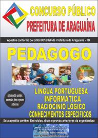 Apostila Impressa Concurso Público Prefeitura de Araguaína - TO 2020 Área Pedagogo