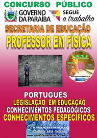 Apostila Impressa Concurso SEECT/PB - 2019 - Professor De Física
