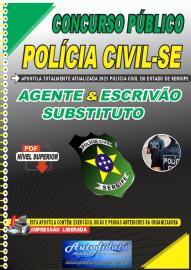 Apostila Digital Concurso Polícia Civil - SE 2021 AGENTE & ESCRIVÃO Substituto