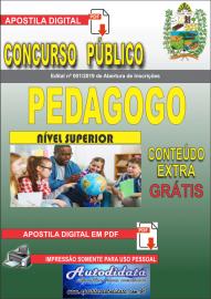 Apostila Digital Concurso Prefeitura Municipal de Tucumã - PA 2019 PEDAGOGO
