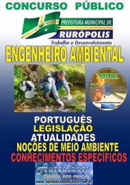 Apostila Impressa Concurso PREFEITURA MUNICIPAL DE RURÓPOLIS - PA - 2019 - Engenheiro Ambiental
