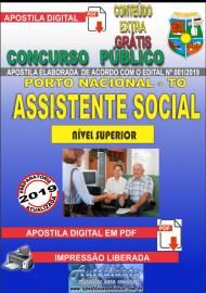 Apostila Digital Concurso da Prefeitura de Porto Nacional - TO – 2019 - Assistente Social