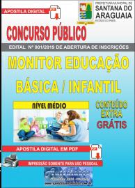 Apostila Digital Concurso - Prefeitura Municipal de Santana do  Araguaia - PA 2019 - Monitor Educação Básica / Infantil