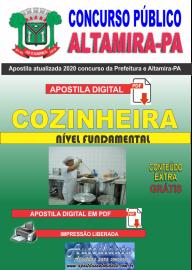 Apostila Digital Concurso Prefeitura de Altamira - PA 2020 - Cozinheira