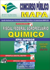 Apostila Digital Concurso Público do MAPA - 2020 Fiscal Federal Agropecuário - Químico