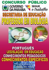 Apostila Impressa Concurso SEECT/PB - 2019 - Professor De Biologia