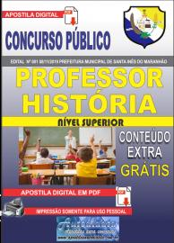 Apostila Digital Concurso Prefeitura Municipal de Santa Inês - Maranhão 2019 Professor História